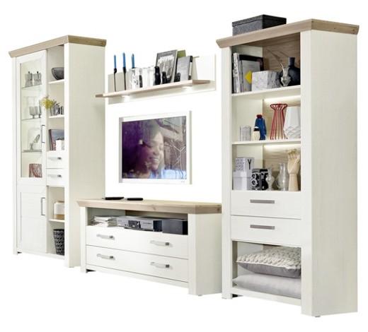 wohnwand eichefarben wei anbauw nde wohnw nde wohnzimmer produkte. Black Bedroom Furniture Sets. Home Design Ideas
