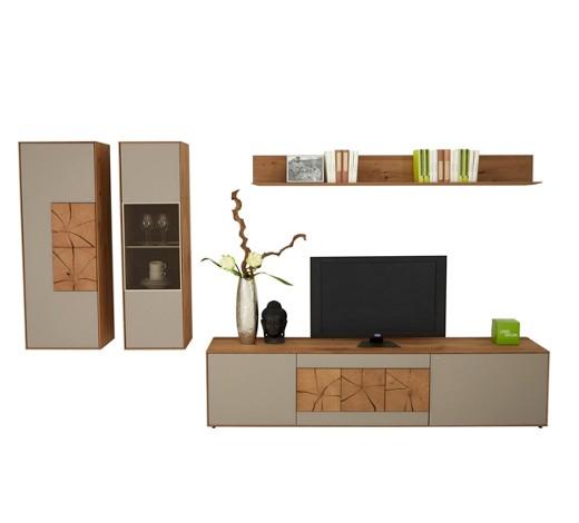 wohnwand kerneiche eichefarben fango online kaufen xxxlshop. Black Bedroom Furniture Sets. Home Design Ideas
