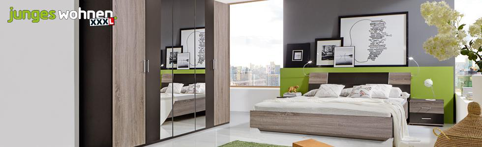 junges wohnen schlafzimmer kaufen bei xxxl. Black Bedroom Furniture Sets. Home Design Ideas