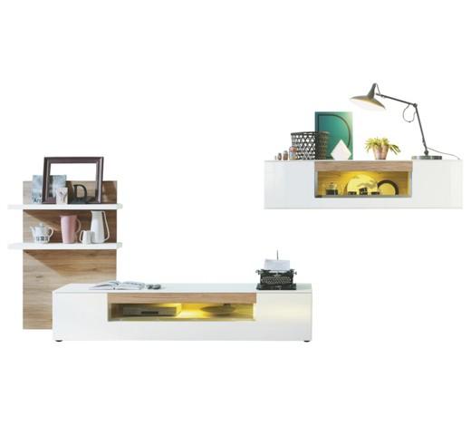 musterring wohnwand im eiche look online kaufen. Black Bedroom Furniture Sets. Home Design Ideas