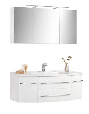 Außergewöhnlich BADEZIMMER   Weiß, MODERN, Holzwerkstoff/Stein (120/55cm)   XORA