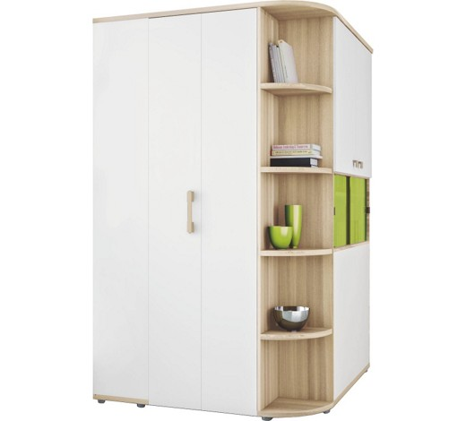 begehbarer eckschrank 5 t rig eschefarben gr n wei online kaufen xxxlshop. Black Bedroom Furniture Sets. Home Design Ideas