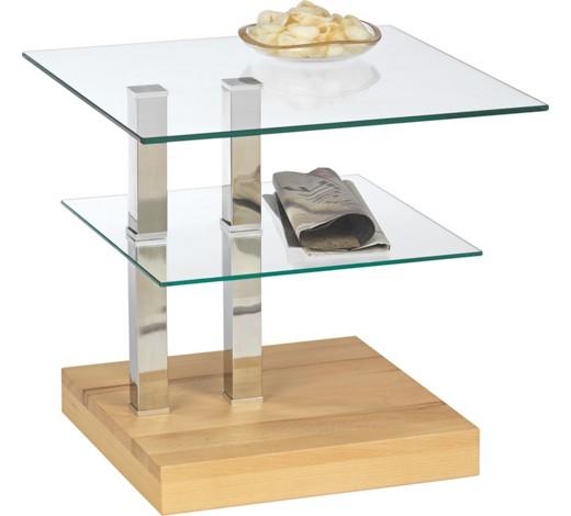 Beistelltisch glas holz for Glas beistelltisch rechteckig