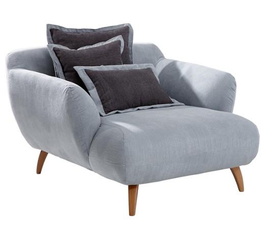 big sessel chenille dunkelgrau hellblau online kaufen. Black Bedroom Furniture Sets. Home Design Ideas