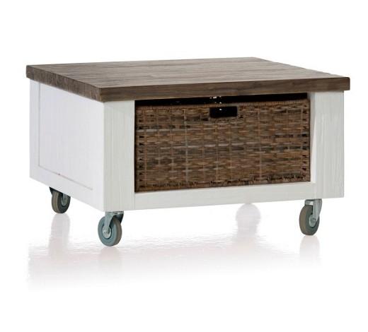 couchtisch akazie teilmassiv quadratisch grau wei online. Black Bedroom Furniture Sets. Home Design Ideas