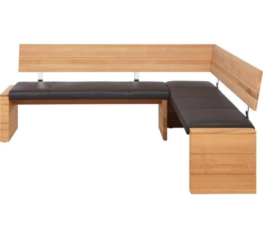 eckbank echtleder kernbuche massiv dunkelbraun naturfarben online kaufen xxxlshop. Black Bedroom Furniture Sets. Home Design Ideas