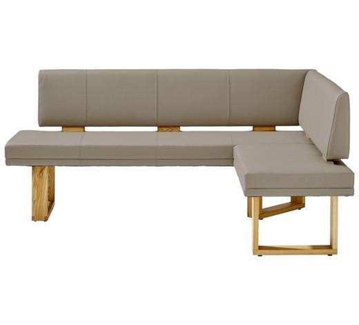 eckbank echtleder wildeiche massiv eichefarben hellgrau. Black Bedroom Furniture Sets. Home Design Ideas