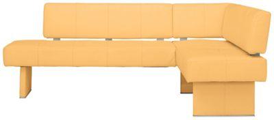 ECKBANK In Textil Gelb   Gelb, MODERN, Holz/Textil (230/165cm