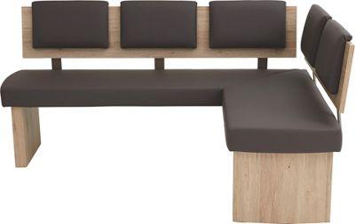 Great ECKBANK in Holzwerkstoff Textil Braun Eichefarben Sandfarben online kaufen XXXLutz
