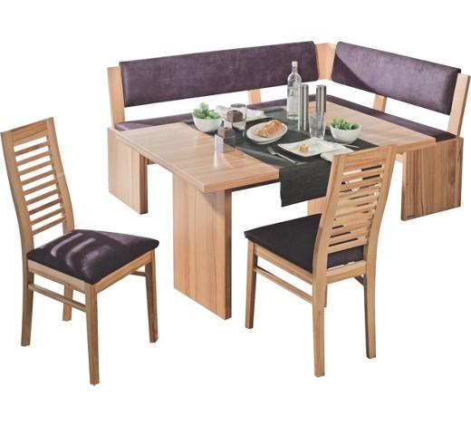 eckbankgruppe lederlook kernbuche furniert buchefarben. Black Bedroom Furniture Sets. Home Design Ideas