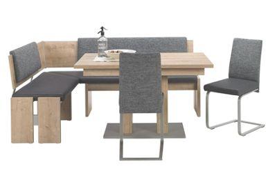 Simple ECKBANKGRUPPE in Holzwerkstoff Metall Anthrazit Eichefarben Grau online kaufen XXXLutz