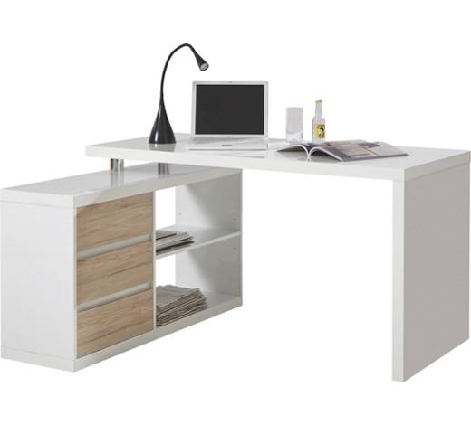 eckschreibtisch eichefarben wei online kaufen xxxlshop. Black Bedroom Furniture Sets. Home Design Ideas