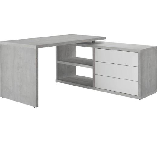 eckschreibtisch grau wei online kaufen xxxlshop. Black Bedroom Furniture Sets. Home Design Ideas