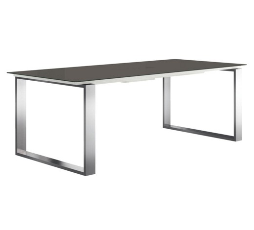 Esstisch rechteckig edelstahlfarben grau online kaufen for Esstisch modern glas