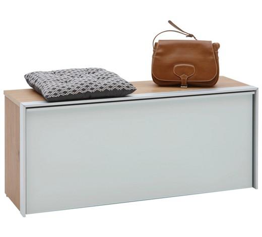 garderobenbank alufarben eichefarben wei online kaufen xxxlshop. Black Bedroom Furniture Sets. Home Design Ideas