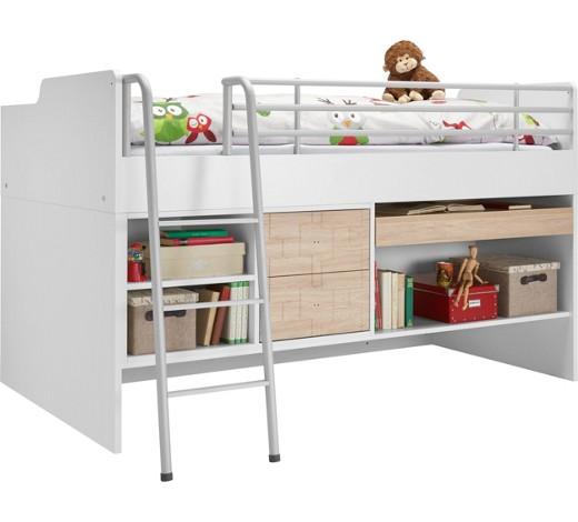 hochbett 120 200 cm creme eichefarben wei online kaufen. Black Bedroom Furniture Sets. Home Design Ideas