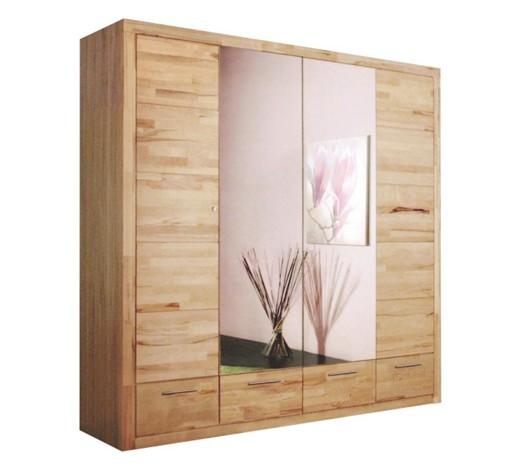 kleiderschrank 4 t rig kernbuche teilmassiv buchefarben. Black Bedroom Furniture Sets. Home Design Ideas