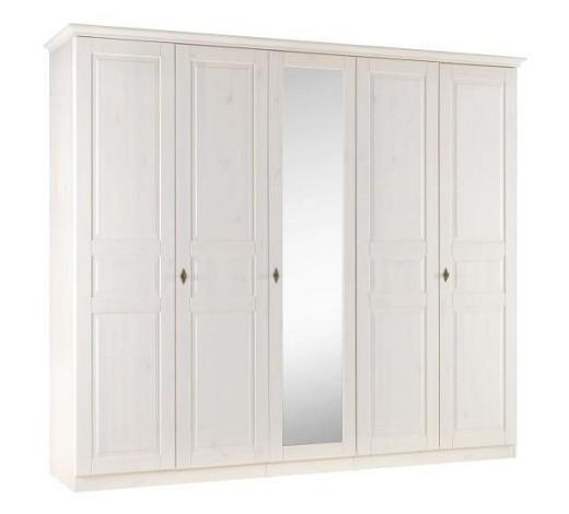 kleiderschrank 5 t rig kiefer massiv wei online kaufen xxxlshop. Black Bedroom Furniture Sets. Home Design Ideas