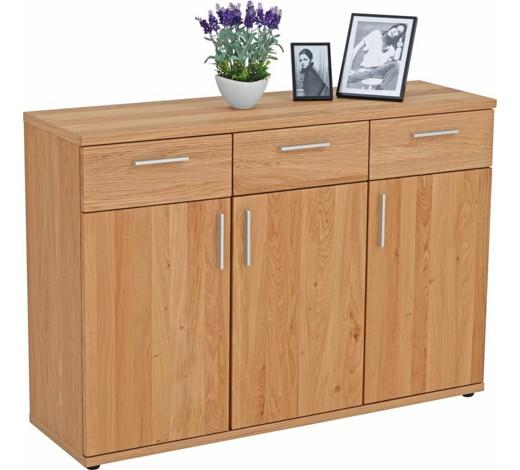 kommode wildeiche furniert teilmassiv lackiert. Black Bedroom Furniture Sets. Home Design Ideas
