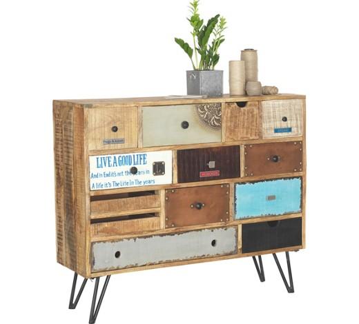 kommode mangoholz massiv handbemalt natur multicolor online kaufen xxxlshop. Black Bedroom Furniture Sets. Home Design Ideas