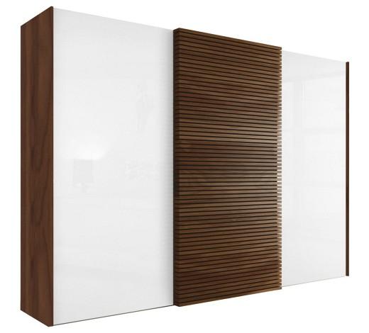 schiebet renschrank 3 t rig kernnussbaum massiv nussbaumfarben wei online kaufen xxxlshop. Black Bedroom Furniture Sets. Home Design Ideas