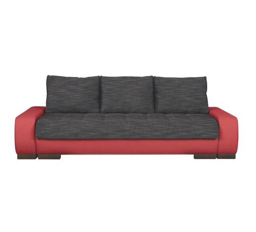 schlafsofa lederlook webstoff rot schwarz online kaufen. Black Bedroom Furniture Sets. Home Design Ideas