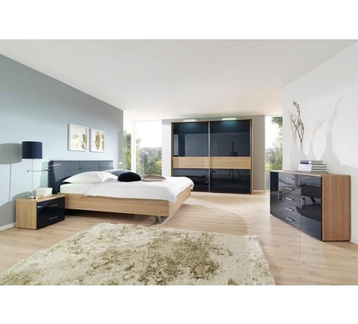 schlafzimmer in dunkelblau eichefarben online kaufen xxxlshop. Black Bedroom Furniture Sets. Home Design Ideas