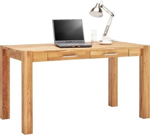 Schreibtisch wildeiche massiv eichefarben online kaufen for Schreibtisch wildeiche