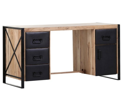 schreibtisch akazie massiv naturfarben online kaufen xxxlshop. Black Bedroom Furniture Sets. Home Design Ideas