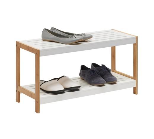 schuhregal bambus massiv lackiert matt braun wei online kaufen xxxlshop. Black Bedroom Furniture Sets. Home Design Ideas