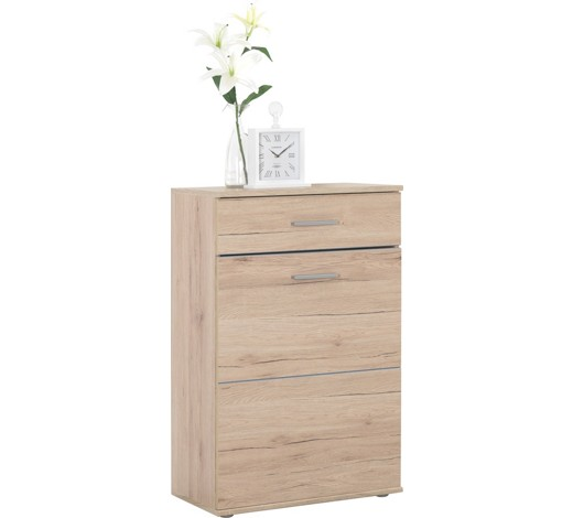 g nstiger schuhschrank in eiche optik. Black Bedroom Furniture Sets. Home Design Ideas