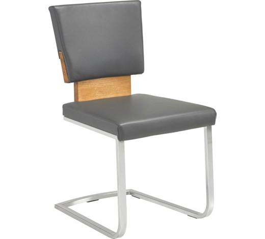 schwingstuhl echtleder eiche massiv anthrazit eichefarben. Black Bedroom Furniture Sets. Home Design Ideas
