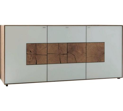 Sideboard kerneiche vollmassiv geb rstet gewachst for Sideboard mit glas