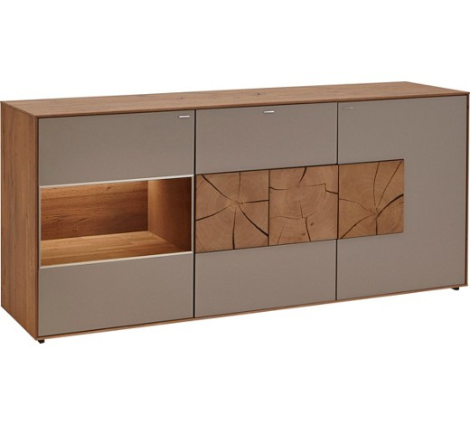 Sideboard in kerneiche kerneiche massiv geb rstet for Sideboard 2 m breit