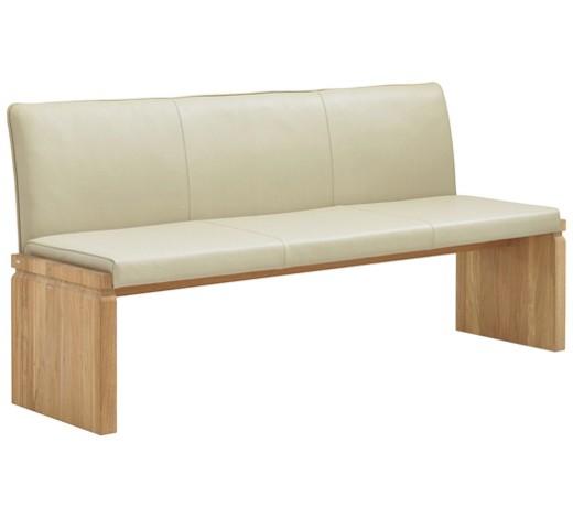 sitzbank echtleder wildeiche massiv braun eichefarben. Black Bedroom Furniture Sets. Home Design Ideas