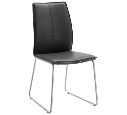 stuhl echtleder anthrazit edelstahlfarben online kaufen xxxlshop. Black Bedroom Furniture Sets. Home Design Ideas