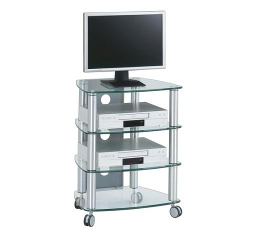 tv rack glas metall klar online kaufen xxxlshop. Black Bedroom Furniture Sets. Home Design Ideas