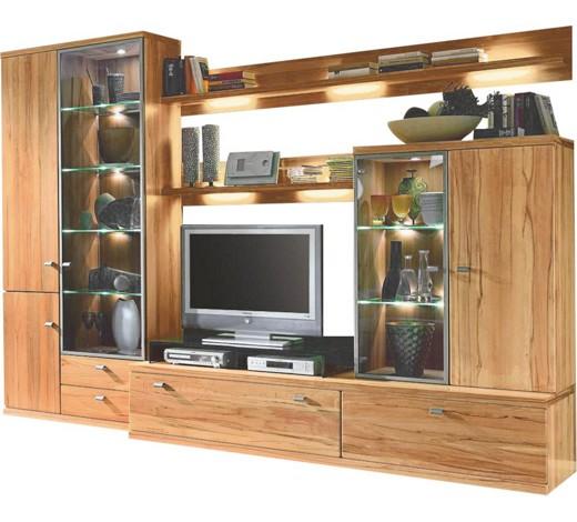 schrankwand holz wohnwand holz eiche. Black Bedroom Furniture Sets. Home Design Ideas
