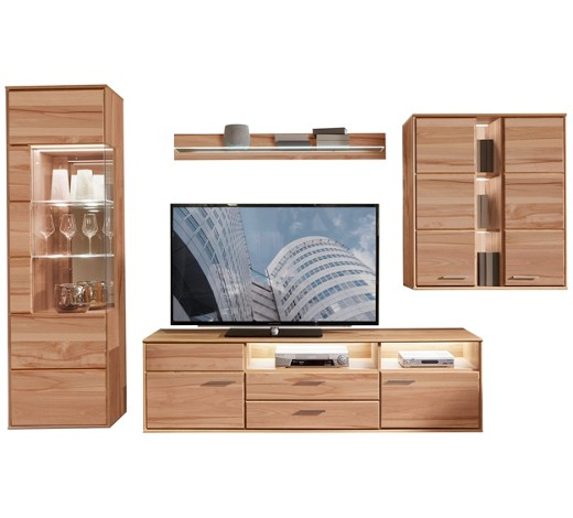 wohnwand kernbuche furniert massiv buchefarben online kaufen xxxlshop. Black Bedroom Furniture Sets. Home Design Ideas
