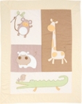 KRABBELDECKE 90/120 cm - Creme/Orange, Textil (90/120cm) - MY BABY LOU
