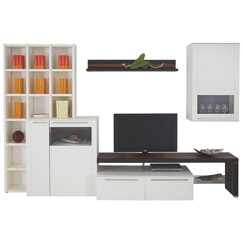 wohnwand nussbaum schwarz preisvergleich die besten. Black Bedroom Furniture Sets. Home Design Ideas