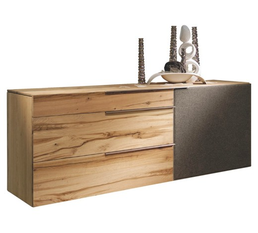 Sideboard in altholz eiche anthrazit eichefarben for Sideboard joop