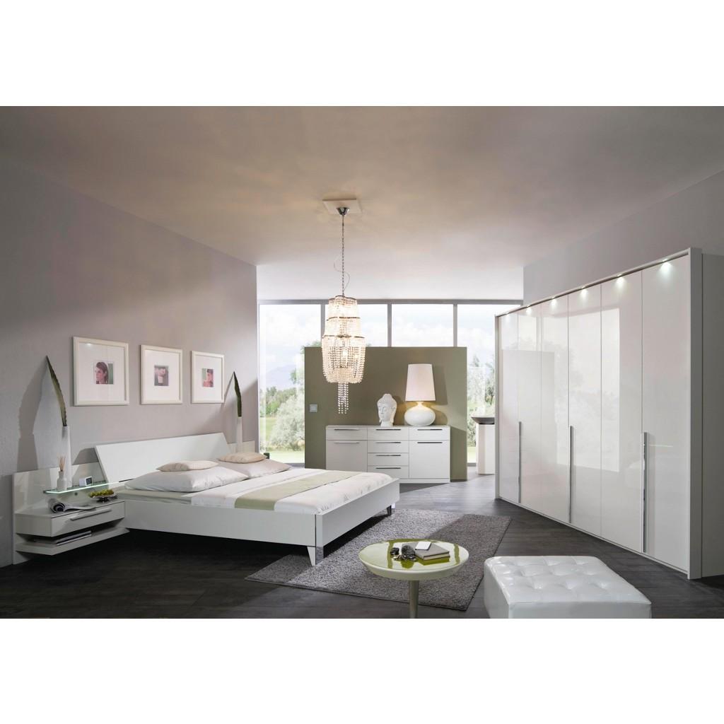 shopthewall | 4 tlg schlafzimmer in alpinwei mit absin grau ... - Schones Schlafzimmer Modern