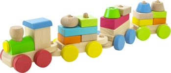 SPIELZUG - Multicolor, Holz (40/8/6cm) - MY BABY LOU