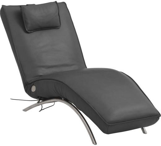 liege schwarz leder liegen polsterm bel wohnzimmer. Black Bedroom Furniture Sets. Home Design Ideas