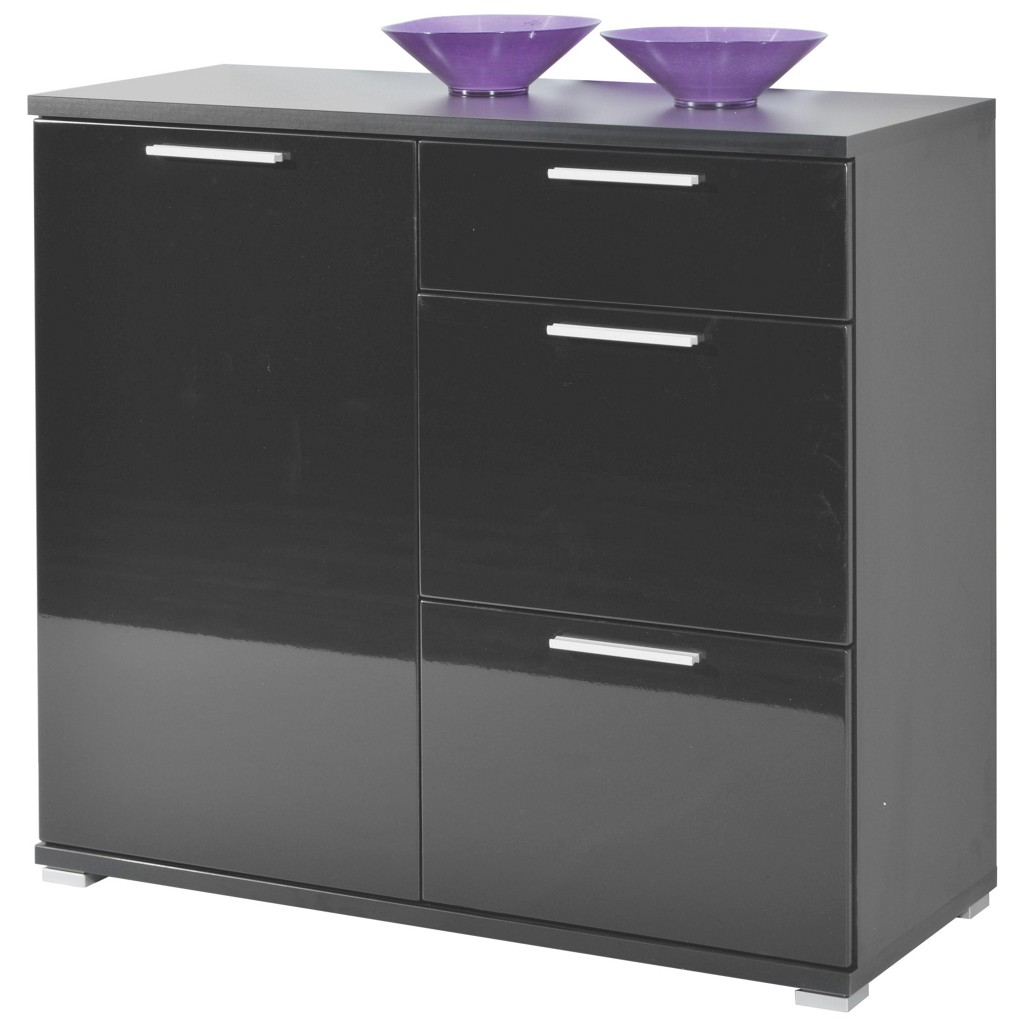 kommode schwarz hochglanz preis vergleich 2016. Black Bedroom Furniture Sets. Home Design Ideas