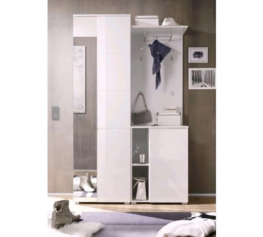 Garderobe holzwerkstoff wei garderobensets garderobe for Garderobe xora