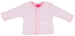 JACKE - Rosa/Weiß, Textil (50/56) - MY BABY LOU