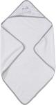 KAPUZENBADETUCH - Weiß/Grau, Textil (75/75cm) - MY BABY LOU