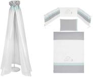 GITTERBETTSET - Türkis/Weiß, Basics, Textil - MY BABY LOU